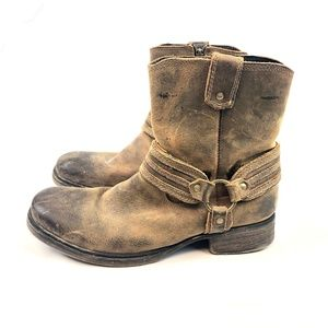 Bed Stu Wild Portal Distressed Moto Harness Boots